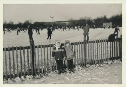 Skøjtebanen i Valby Parken 1960