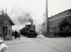 Jernbaneoverskæringen i Trekronergade.