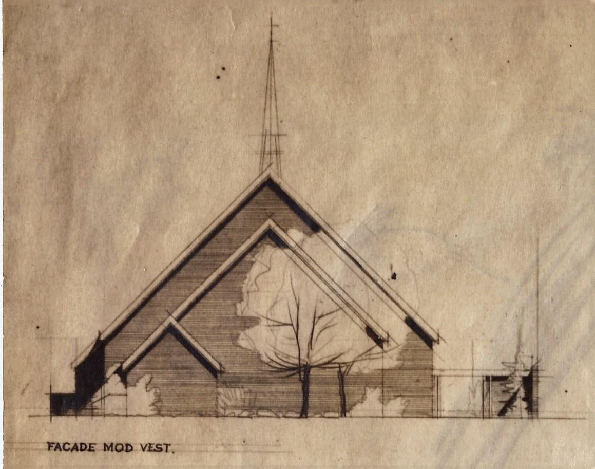 3 gavl sjælør kirke med tårn